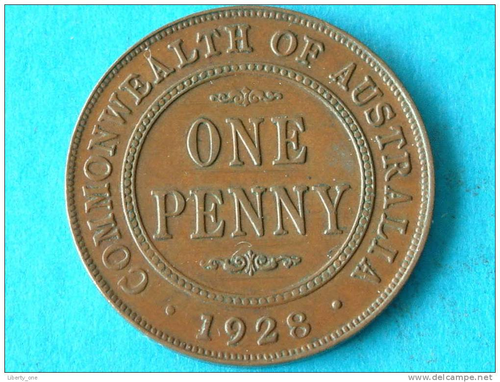 1928 - ONE PENNY / KM 23 ( For Grade, Please See Photo ) !! - Penny