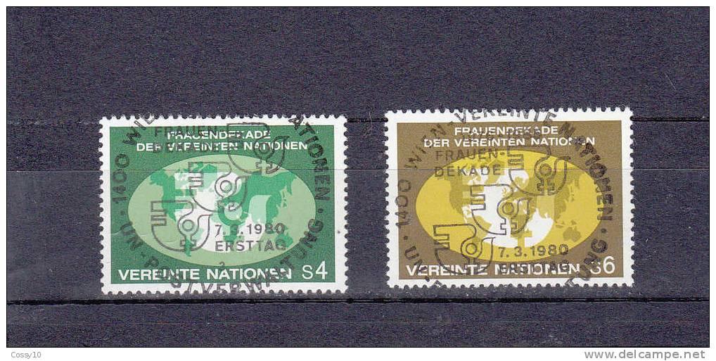NATIONS  UNIES  VIENNE   1980   OBLITERATION CENTRALES - Oblitérés