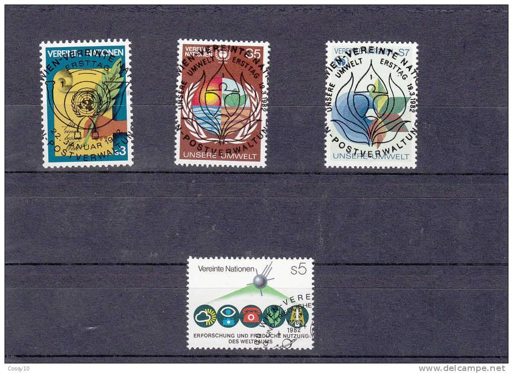 NATIONS  UNIES  VIENNE   1982   OBLITERATIONS CENTRALES - Centre International De Vienne