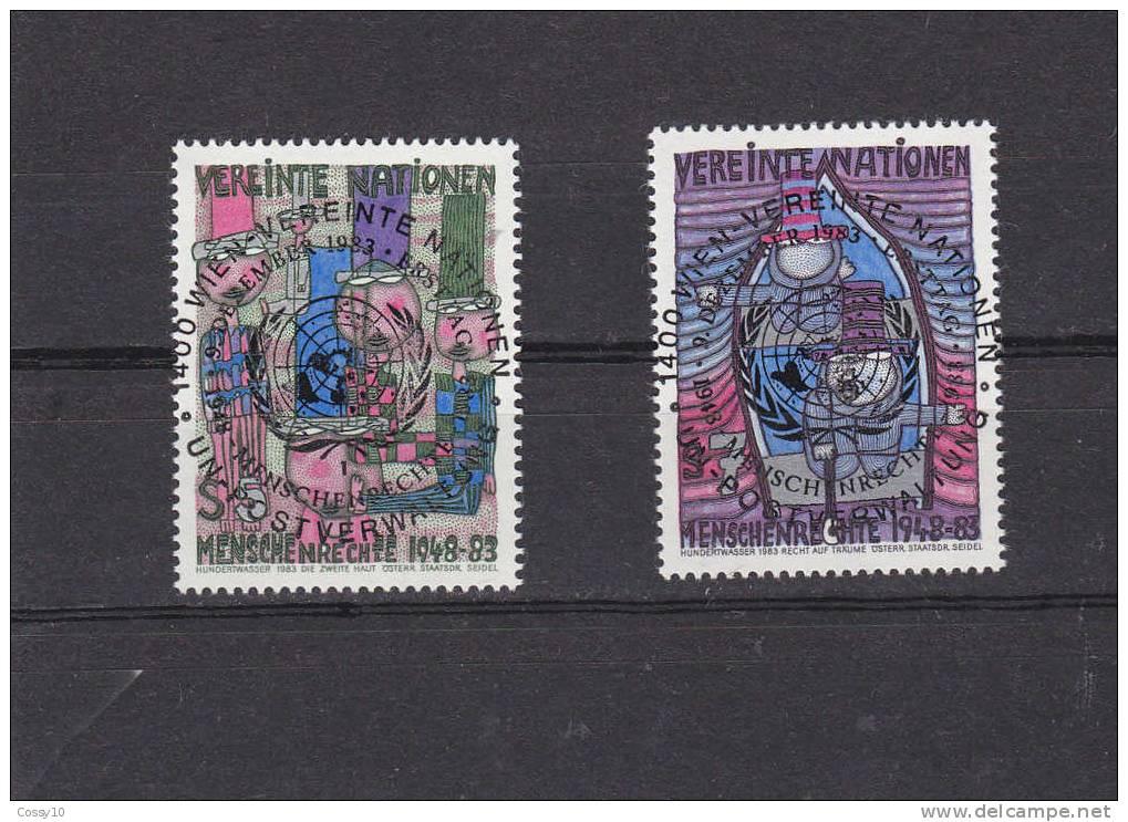 NATIONS  UNIES  VIENNE   1983   OBLITERATIONS  CENTRALES - Centre International De Vienne