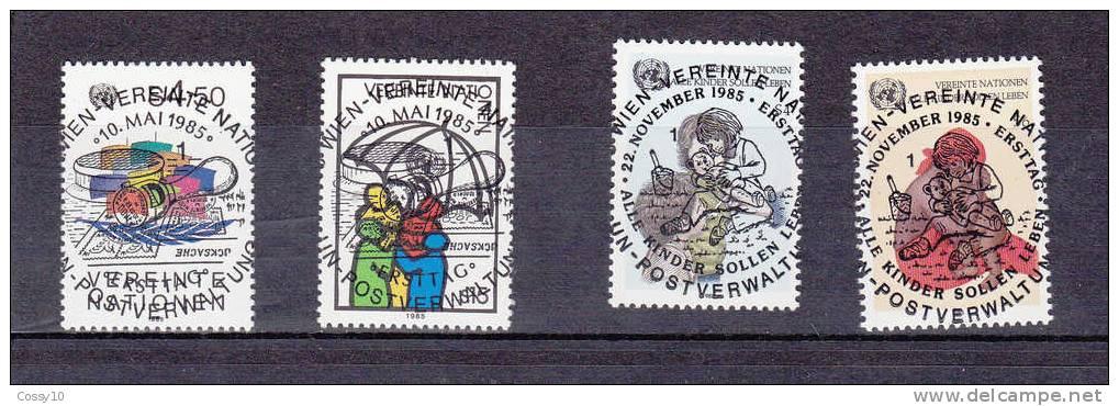 NATIONS  UNIES  VIENNE   1985   OBLITERATIONS  CENTRALES - Centre International De Vienne