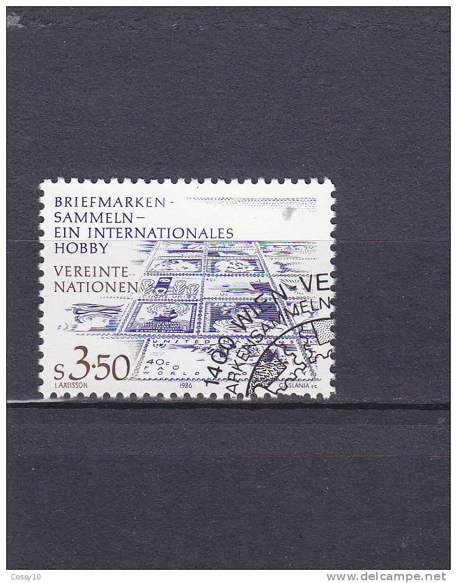 NATIONS  UNIES  VIENNE   1986  N° 60    OBLITERE    CATALOGUE YVERT - Centre International De Vienne