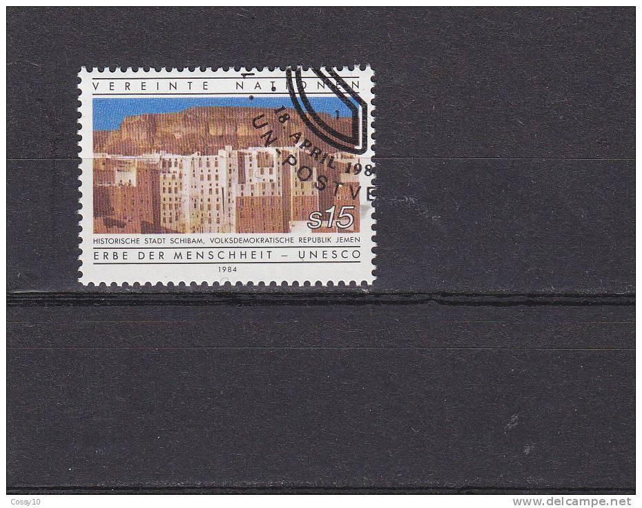 NATIONS  UNIES  VIENNE   1984    N° 42    OBLITERE    CATALOGUE YVERT - Centre International De Vienne