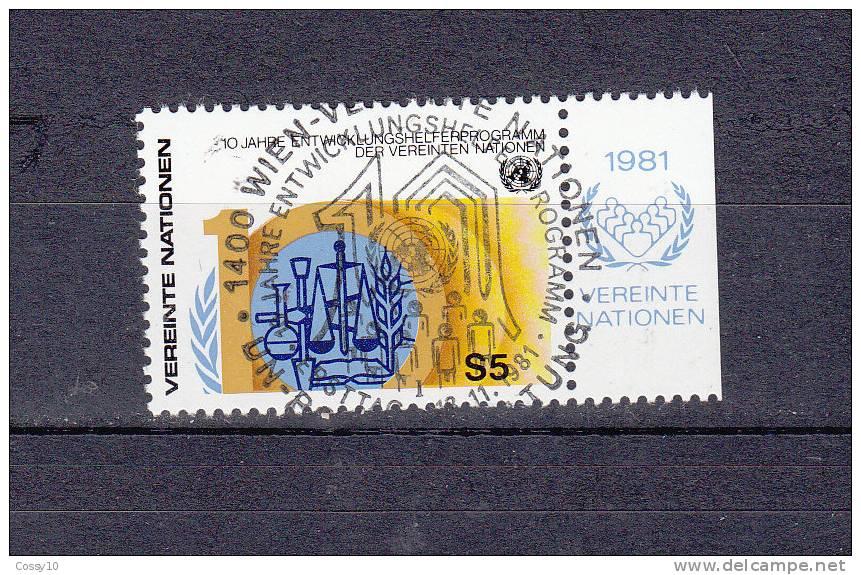 NATIONS  UNIES  VIENNE   1981    N° 21    OBLITERATION CENTRALE    CATALOGUE YVERT - Oblitérés