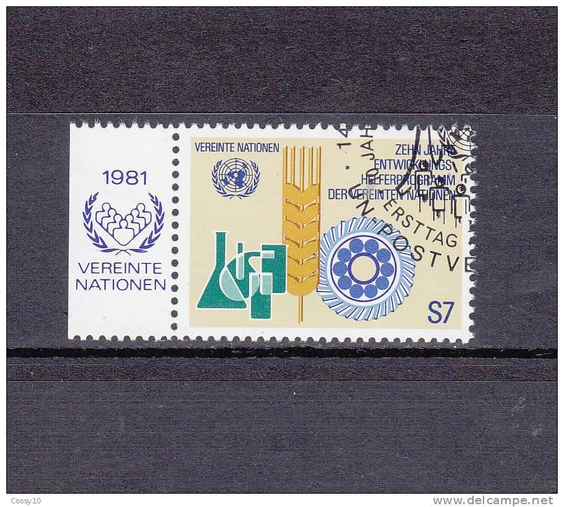NATIONS  UNIES  VIENNE   1981    N° 22   OBLITERE     CATALOGUE YVERT - Centre International De Vienne