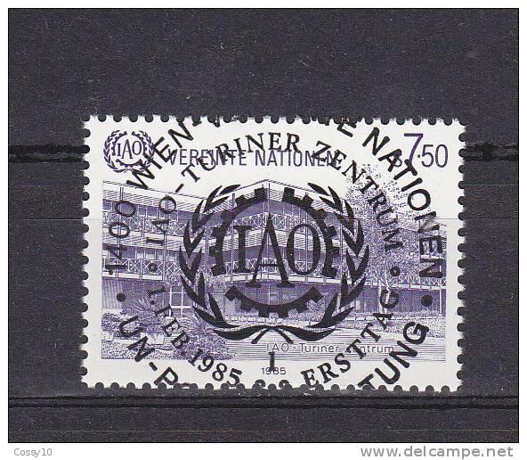 NATIONS  UNIES  VIENNE   1985    N° 47   OBLITERATION CENTRALE    CATALOGUE YVERT - Centre International De Vienne
