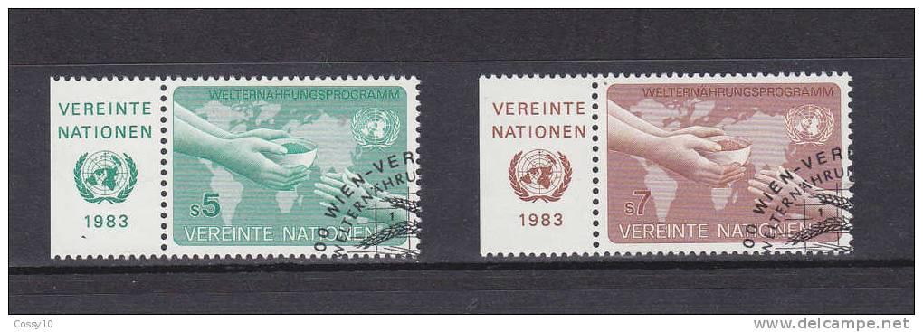 NATIONS  UNIES  VIENNE   1983    N° 32 - 33   OBLITERE    CATALOGUE YVERT - Centre International De Vienne