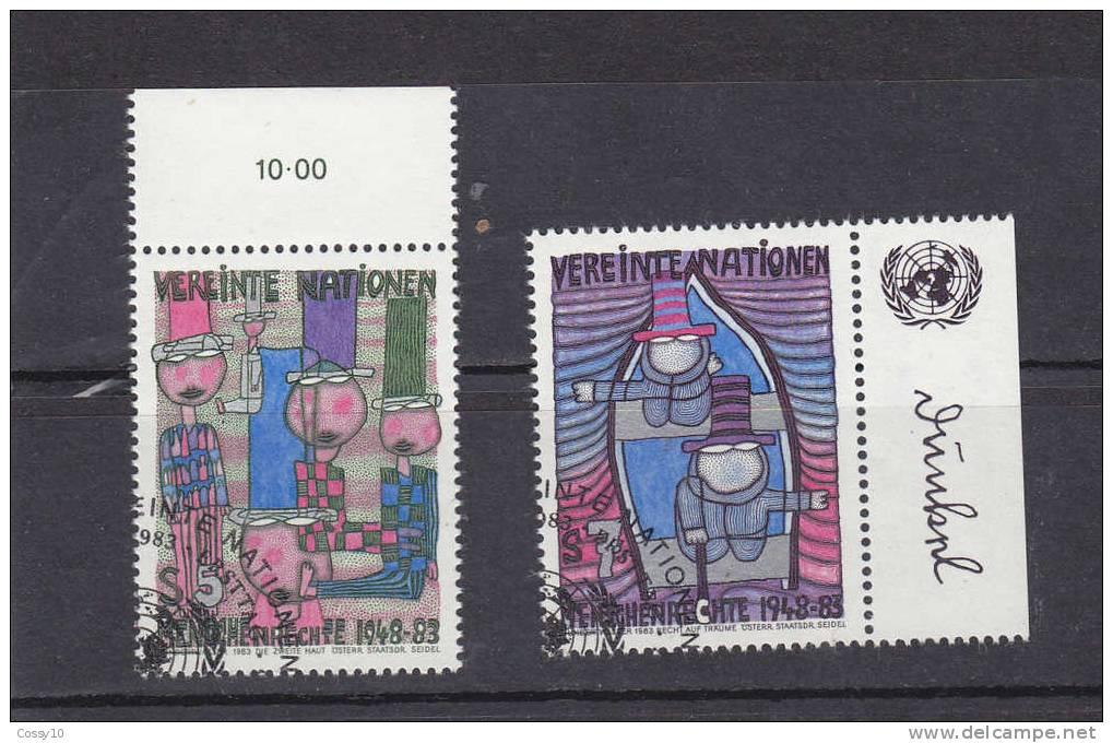 NATIONS  UNIES  VIENNE   1983    N° 36 - 37   OBLITERES    CATALOGUE YVERT - Oblitérés
