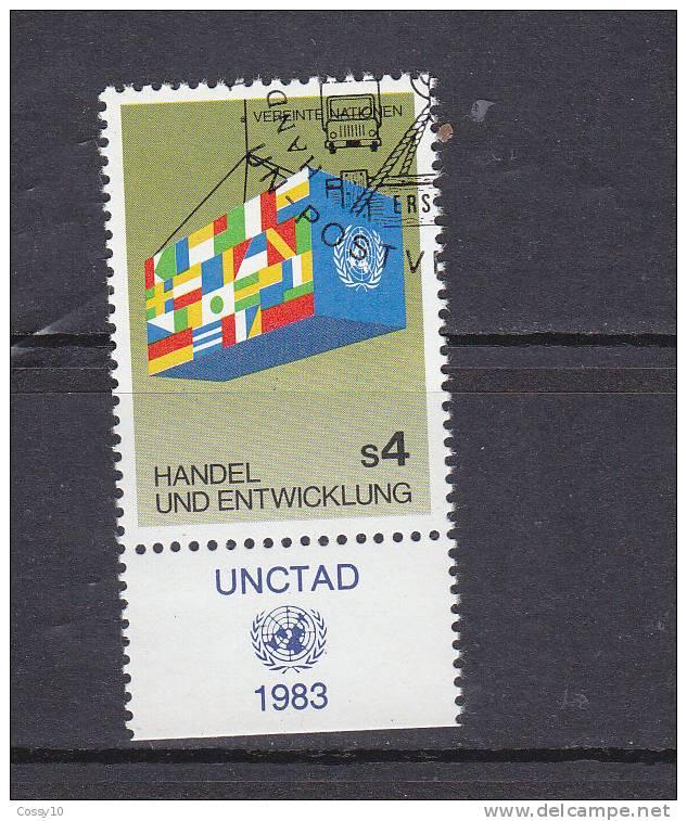 NATIONS  UNIES  VIENNE   1983    N° 34   OBLITERE    CATALOGUE YVERT - Centre International De Vienne