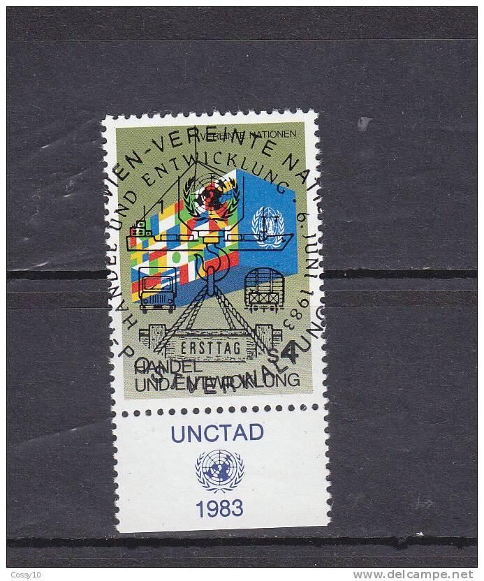 NATIONS  UNIES  VIENNE   1983    N° 34   OBLITERATION CENTRALE    CATALOGUE YVERT - Centre International De Vienne