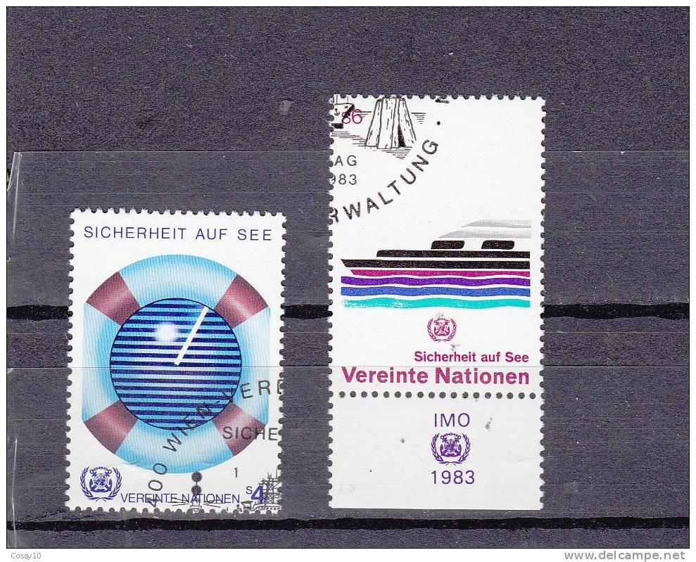 NATIONS  UNIES  VIENNE   1983    N° 30 - 31   OBLITERES   CATALOGUE YVERT - Centre International De Vienne