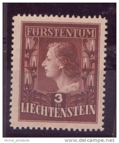 LIECHTENSTEIN N° 267** NEUF SANS CHARNIERE  PORTRAIT - Liechtenstein