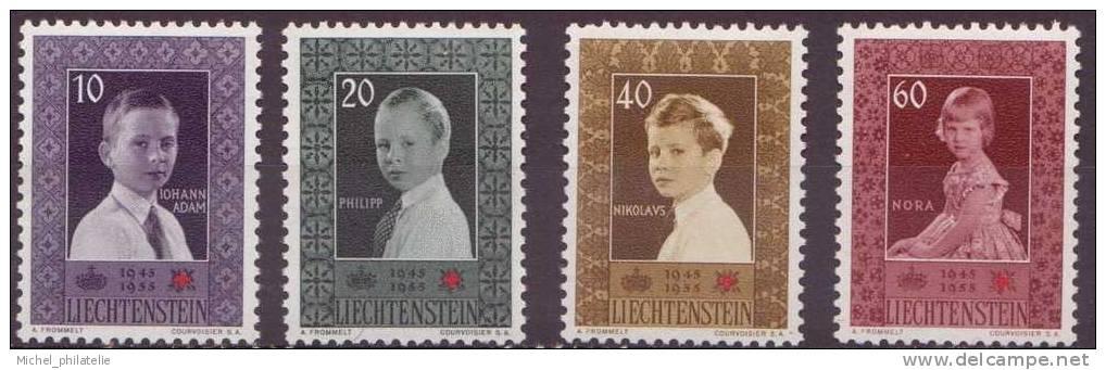 LIECHTENSTEIN N° 300/303** NEUF SANS CHARNIERE  CROIX ROUGE PORTRAITS - Liechtenstein