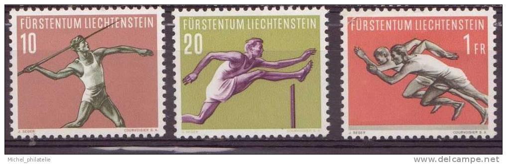 LIECHTENSTEIN N° 304-305-307** NEUF SANS CHARNIERE  Serie Sportives Sujets Divers - Liechtenstein