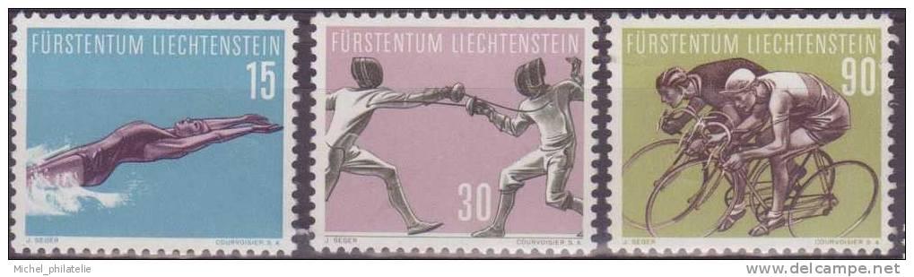 LIECHTENSTEIN N°327/330 ** NEUF SANS CHARNIERE  SERIE SPORTIVE SUJET DIVERS SAUF LE 329 - Liechtenstein