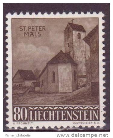 LIECHTENSTEIN N°338 ** NEUF SANS CHARNIERE  CHAPELLE DE SAINT PIERRE A MALZ BALZERS - Liechtenstein