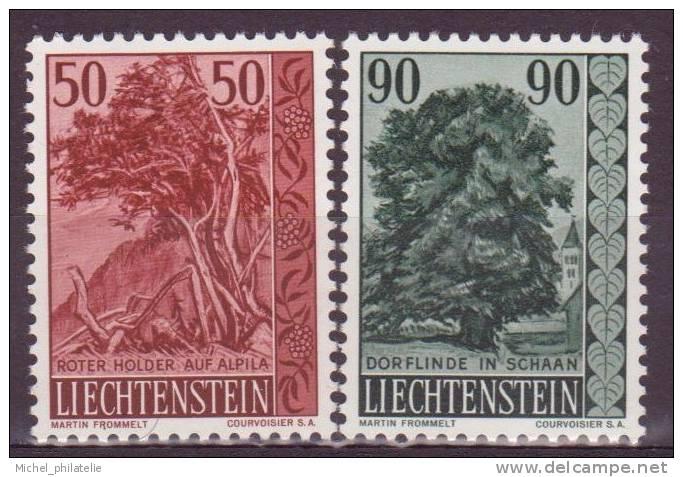 LIECHTENSTEIN N°340-41 ** NEUF SANS CHARNIERE  SUREAU-TILLEUL - Liechtenstein