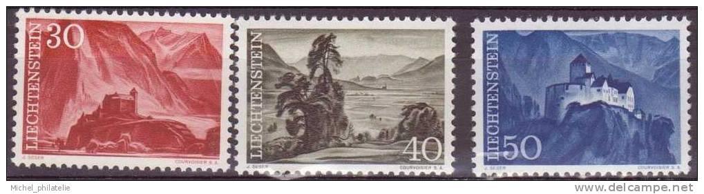 LIECHTENSTEIN N°344- 345-345A** NEUF SANS CHARNIERE  PAYASAGE - Liechtenstein