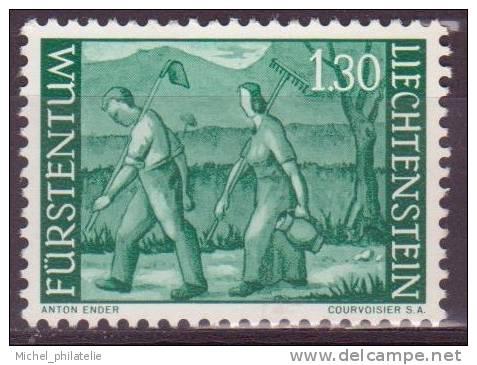 LIECHTENSTEIN N°348A** NEUF SANS CHARNIERE  RETOUR DES CHAMPS - Liechtenstein