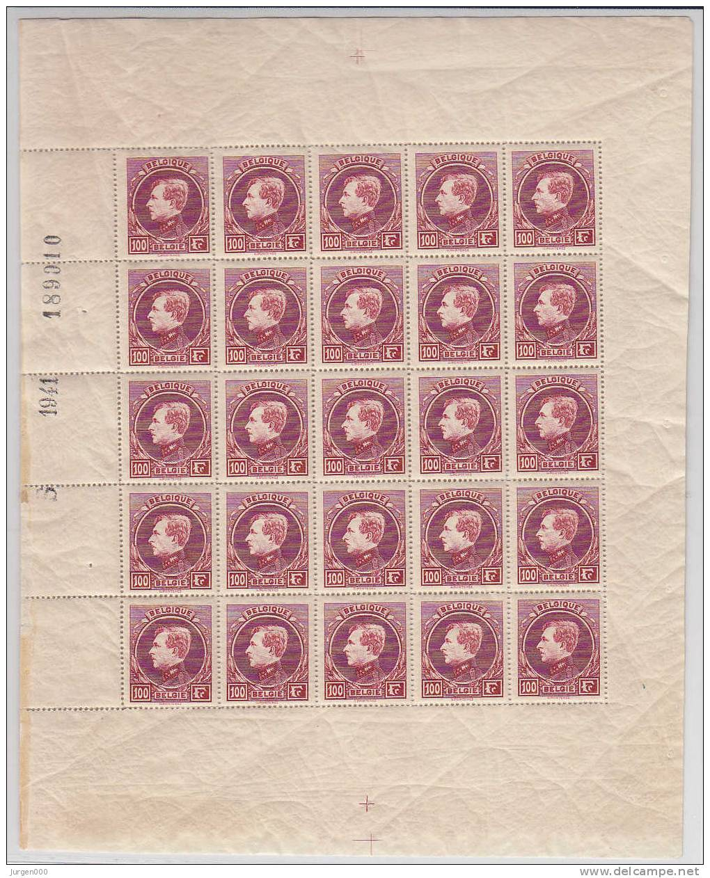 Nr 292B **, In Volledig Vel (LX) - 1929-1941 Grand Montenez