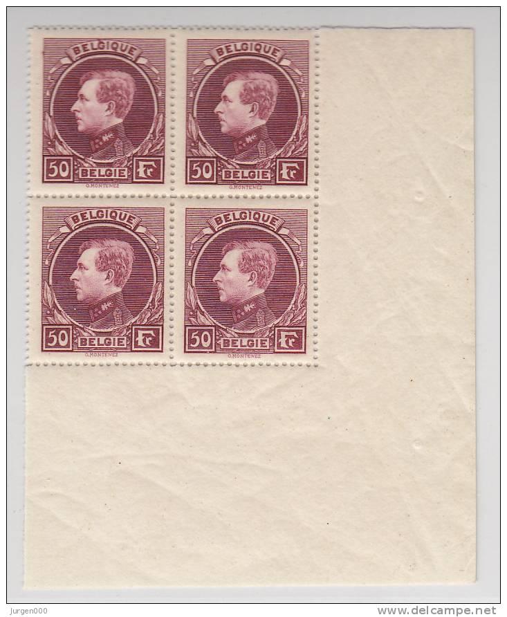 Nr 291D (4) **, Met Variëteit 'punt Achter E', Positie 20, Met Fotoattest Soeteman (LX) - 1929-1941 Grand Montenez