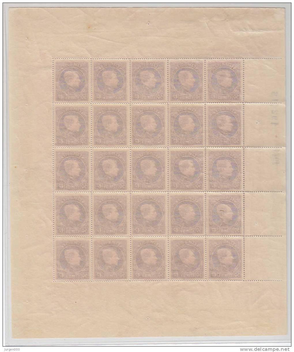 Nr 291D (25) **, In Volledig Vel (LX) - 1929-1941 Groot Montenez