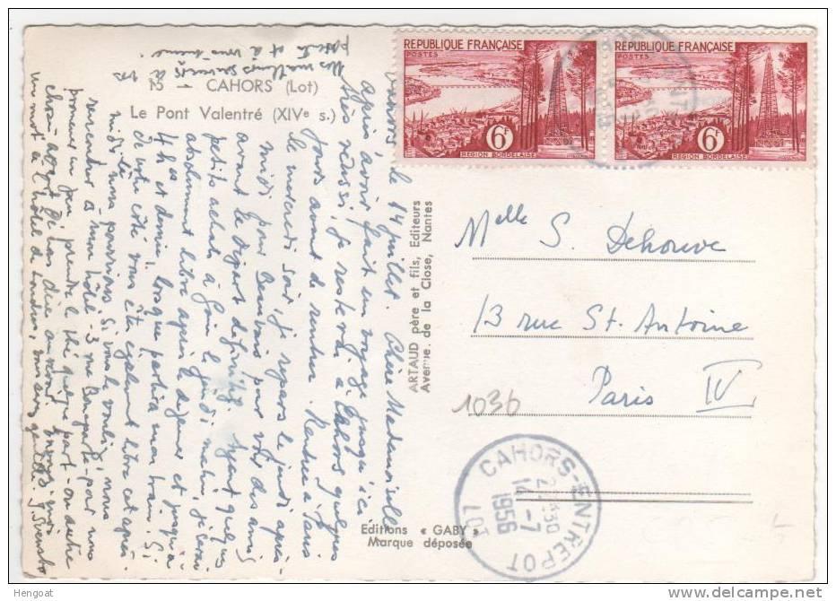 N° 1036x2 / CP De Cahors Entrepot Du 14/7/56 - France