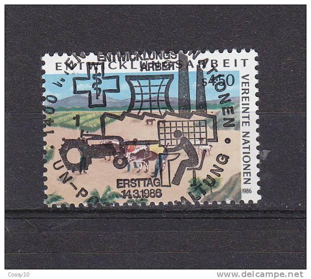 NATIONS  UNIES  VIENNE   1986    N° 57   OBLITERATION  CENTRALE    CATALOGUE YVERT - Centre International De Vienne