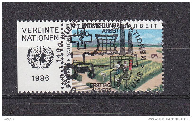 NATIONS  UNIES  VIENNE   1986    N° 56   OBLITERATION  CENTRALE    CATALOGUE YVERT - Centre International De Vienne