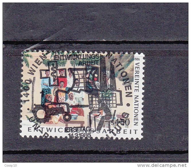 NATIONS  UNIES  VIENNE   1986    N° 59   OBLITERATION  CENTRALE    CATALOGUE YVERT - Centre International De Vienne