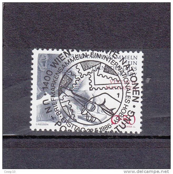 NATIONS  UNIES  VIENNE   1986    N° 61   OBLITERATION  CENTRALE    CATALOGUE YVERT - Centre International De Vienne