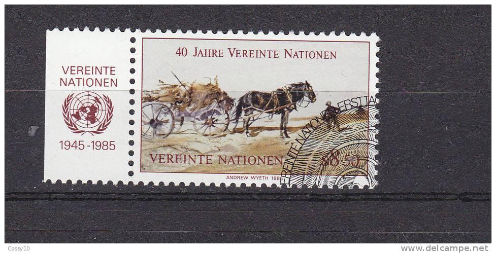 NATIONS  UNIES  VIENNE   1985    N°  52     OBLITERE    CATALOGUE YVERT - Centre International De Vienne