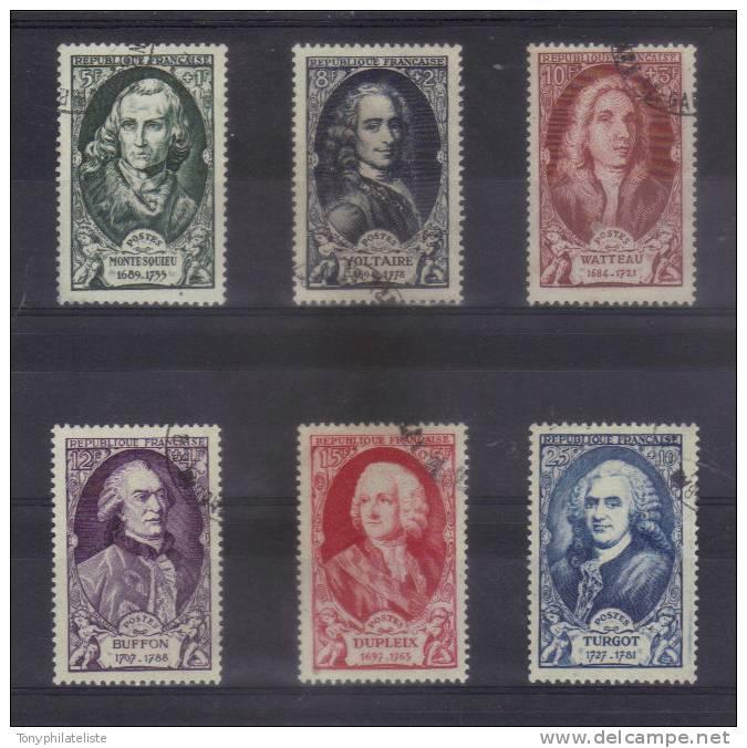 Célébrités Timbres De 1949 N°853 A 858 Oblitérés - Gebraucht