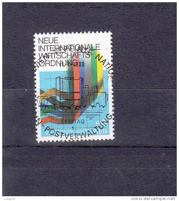NATIONS  UNIES  VIENNE   1980     N° 8   OBLITERATION CENTRALE       CATALOGUE YVERT - Centre International De Vienne