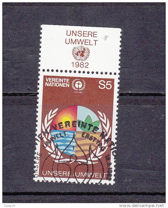NATIONS  UNIES  VIENNE   1982    N° 24   OBLITERE       CATALOGUE YVERT - Oblitérés
