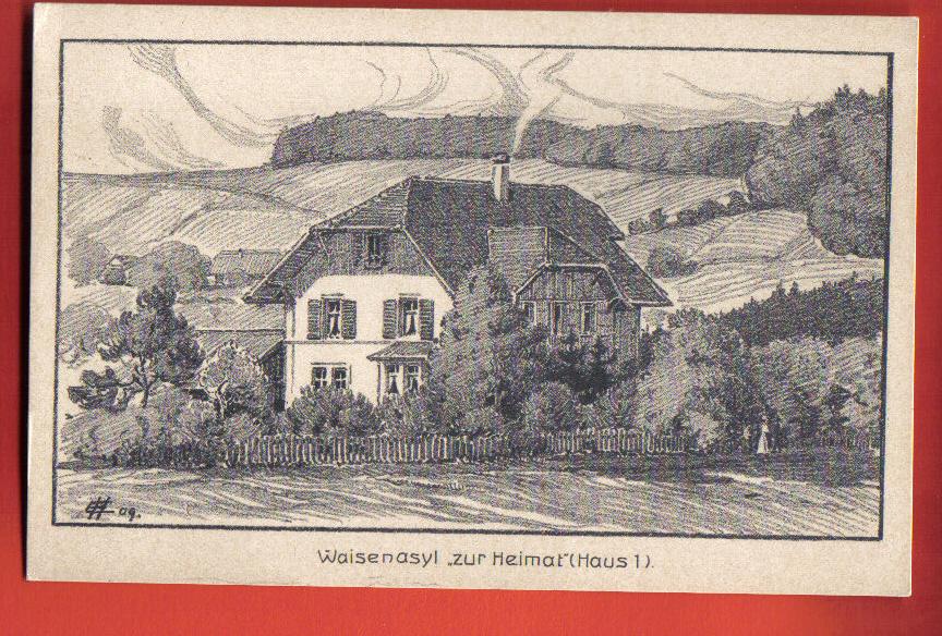N090 Waisenasyl Zur Heimat Haus 1, Dessin, Non Circulé. Hubscher - ZH Zurich