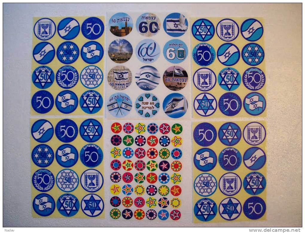 """STICKERS – 50 And 60 YEARS OF COUNTRY ISRAEL –"""" EMBLEMS And SYMBOLS"""" !!! - Stickers"""