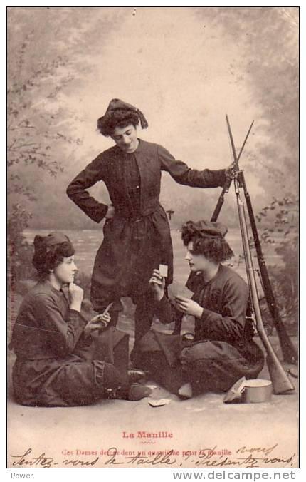 La Manille   Ces Dames Demandent Un Quatrieme Pour La Manille...26.03.1902 - Cartes à Jouer