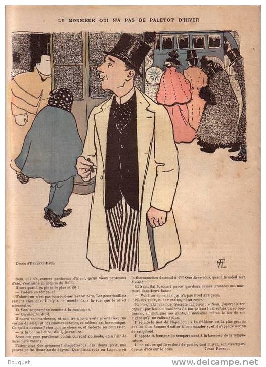 REVUE LE RIRE - FEVRIER 1895 - N° 15 - HIVER - JARRETIERES - PALETOT - ILLUSTREE PAR HEIDBRINCK , HERMANN PAUL , ETC ... - Livres, BD, Revues
