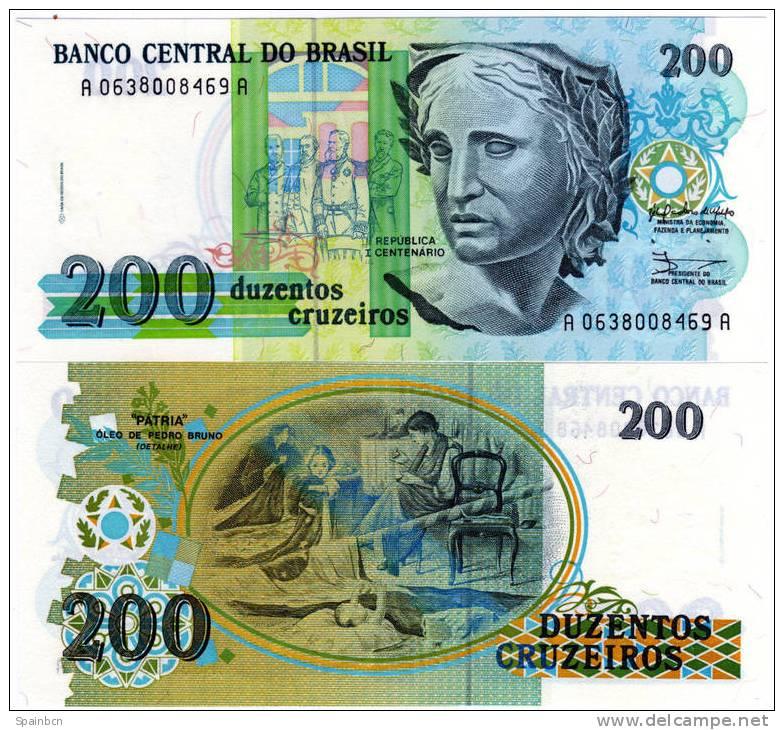 Brasil - Brasilien - Brazil      200 Cruzeiros 1990 - Brasil