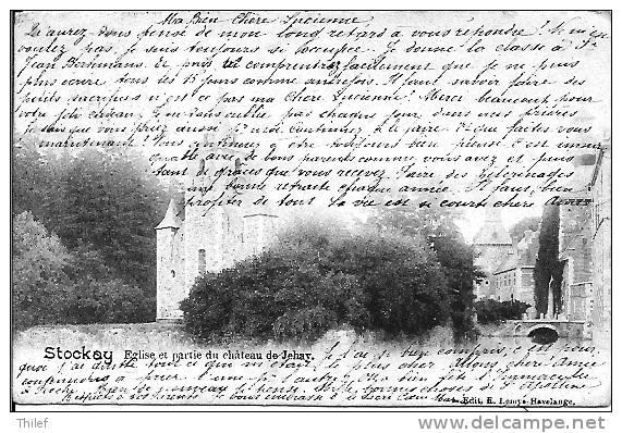 Stockay 3: Eglise Et Partie Du Château De Jehay 1904 - Saint-Georges-sur-Meuse