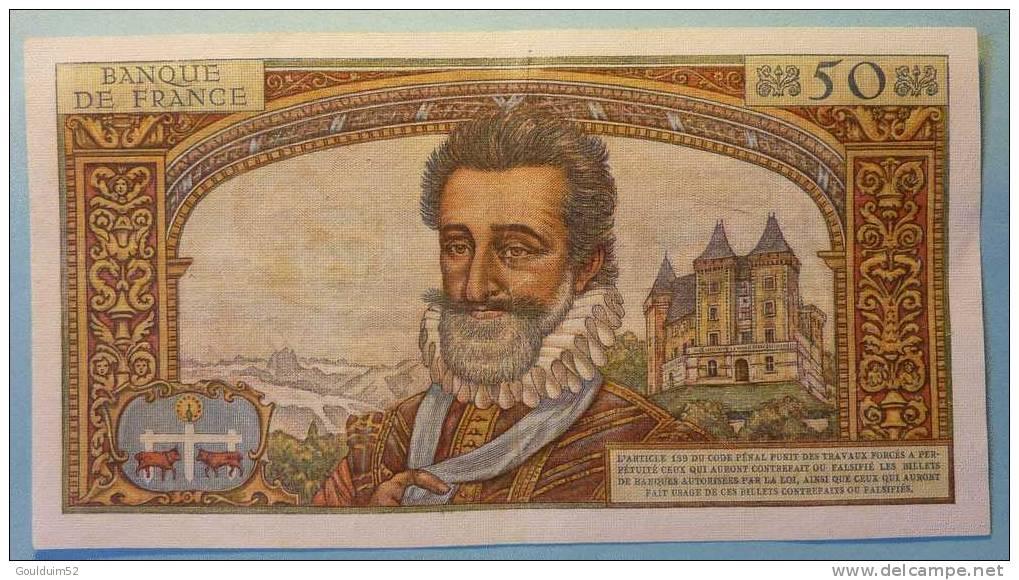 50 Nouveaux  5.3.1959    Francs  Henri IV - Non Classificati
