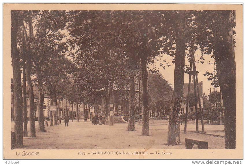 Cpa-Saint-Pourçain Sur Sioule-Le Cours - France
