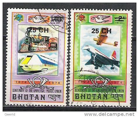 Bhoutan N° YVERT  PA 148/49 OBLITERE - Bhutan