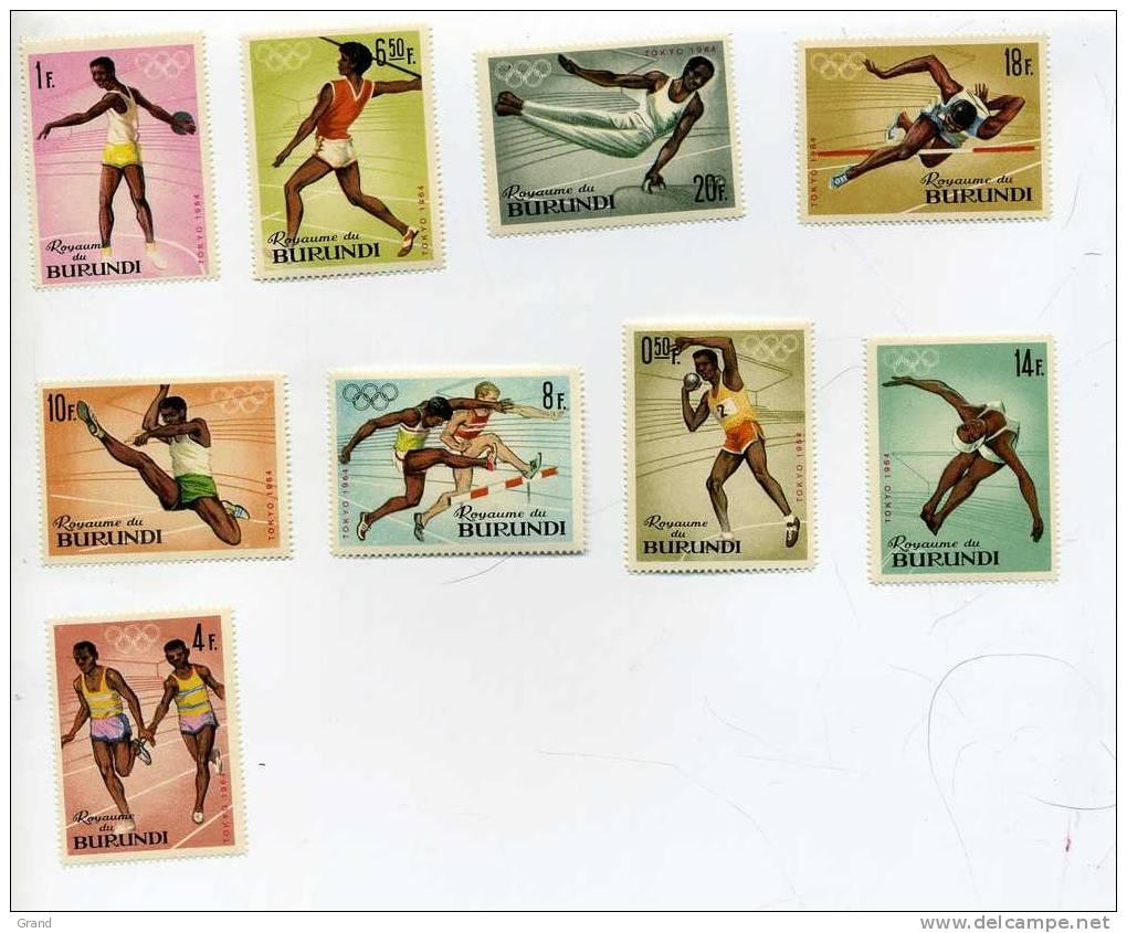 JO Tokyo-Atlétisme-Burundi-YT 102/11***MNH - Sommer 1964: Tokio