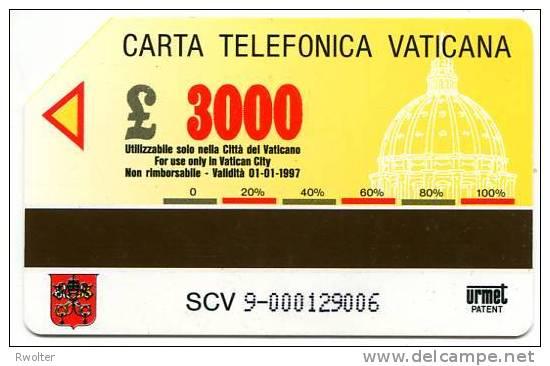 @+ TELECARTE DU VATICAN N° 9 - VUE AERIENNE (1995). - Vatican