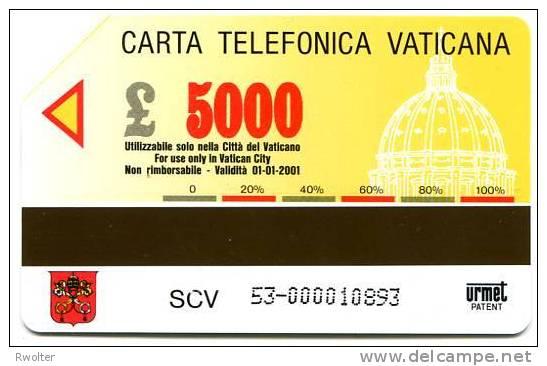 @+ TELECARTE DU VATICAN N° 53 : PAPE JEAN PAUL II (1999). - Vatican