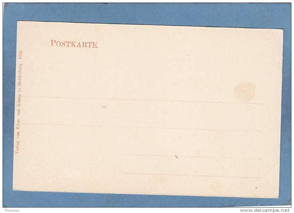 KARLSRUHE  - Palais Prinz   Max -  TRES BELLE CARTE PRECURSEUR  - - Karlsruhe
