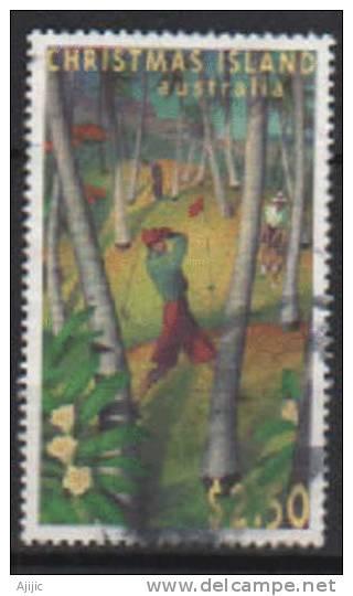 ILE CHRISTMAS. 40 Ans Du Terrain De Golf De L´ile. Un T-p Oblit. Yv.#  415.  Cote 7.50 € - Christmas Island