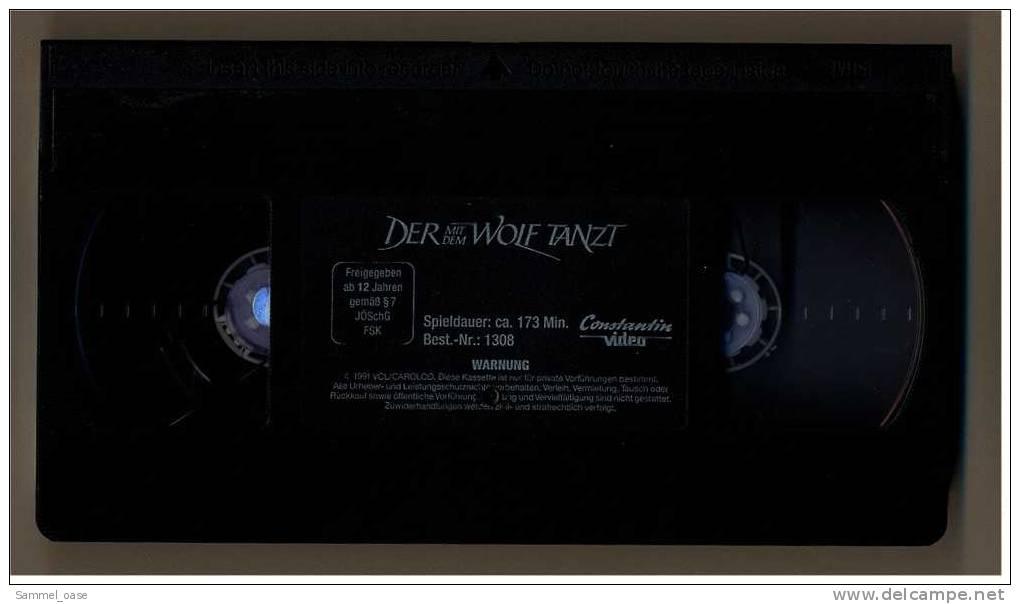 VHS Video  ,  Der Mit Dem Wolf Tanzt  ,  Mit Kevin Costner - Western/ Cowboy